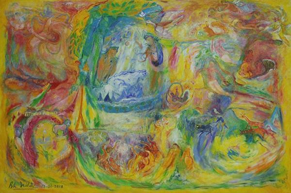 """นิทรรศการจิตรกรรม """"แดน กุสลา ธัมมา : Dan Kuśala Dharma"""""""