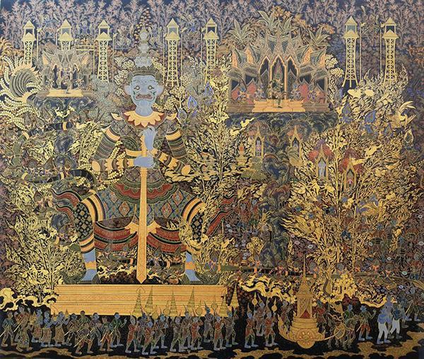 """นิทรรศการจิตรกรรมไทย 4 ภาค ชุด """"พุทธภูมิ"""" (BuddhaBhumi :The Abode of Lord Buddha)"""