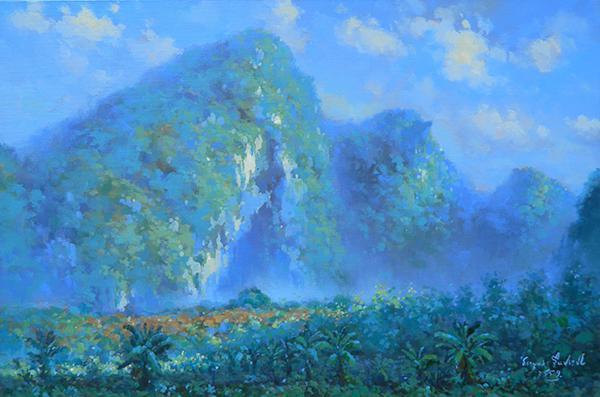 """นิทรรศการ """"ทิวทัศน์ของโลกที่จังหวัดตรัง : World's landscape at Trang province"""""""