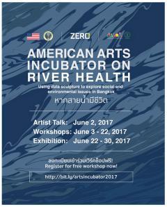 """นิทรรศการศิลปะ """"American Arts Incubator on River Health หากสายน้ำมีชีวิต"""""""
