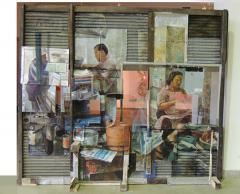 """นิทรรศการ """"จิตรกรรมผสมวัสดุกับการสะท้อนวิถีชีวิตเมือง : The Reflection of Urban Life through the Incorporation of Painting and Found Objects"""""""