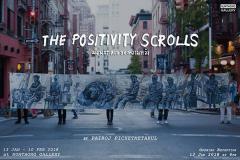 """นิทรรศการ """"ม้วนกระดาษของความหวัง : The Positivity Scrolls"""""""
