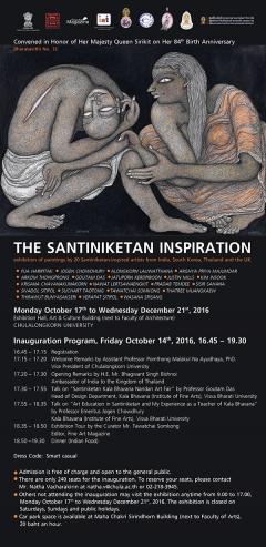 """นิทรรศการ """"The Santiniketan Inspiration"""""""
