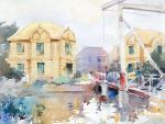 """นิทรรศการ """"เที่ยวไปกับสีน้ำ : On location with watercolor"""""""