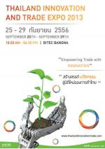 Thailand Innovation & Trade Expo 2013